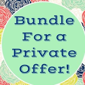 Bundle=bigger discount I will give you:)